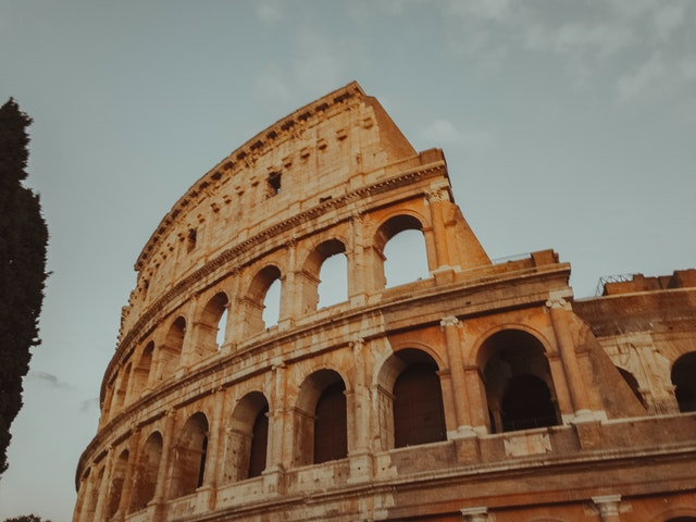 The colosseum in Rome to show a dream vacation location