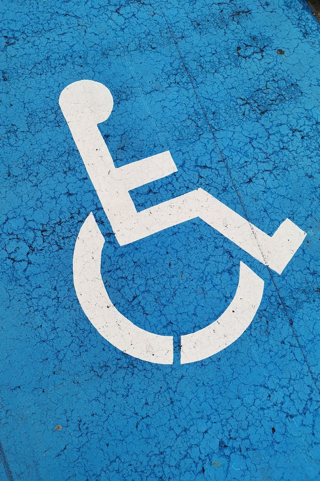 A disability sign to denote that the one time disability payment is for ones with disabilities during covid-19