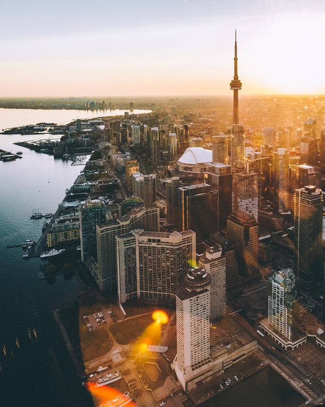 A picture of Toronto skyline to highlight Toronto weather.